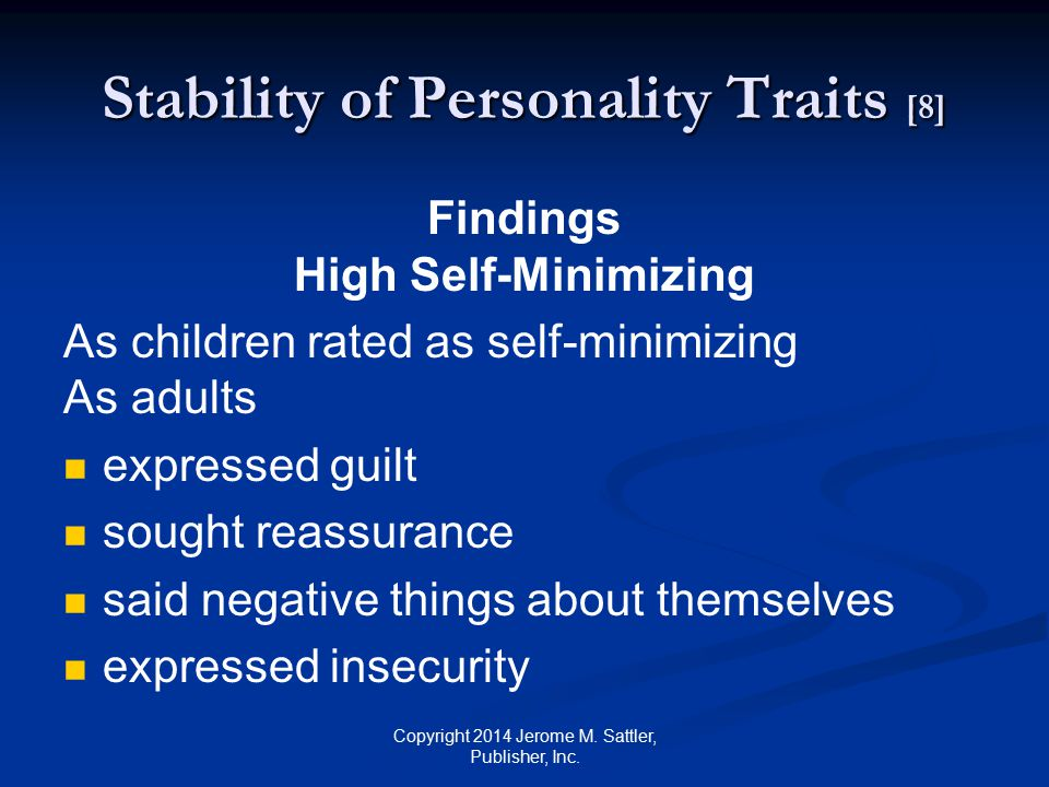 Stability of Personality Traits [8]